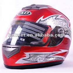 Cheap helmets in full face motorcycle helmets with cool design AD-179