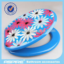 MDF printed soft down bathroom toilet seat cover