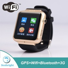 2015 android wifi smart watch phone with 320*320 capacitance touch screen