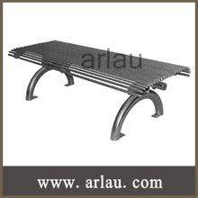 muebles al aire libre parque banco de acero inoxidable sin respaldo (Arlau FS146)