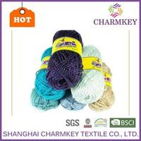 Glittering metallic acrylic knitting yarn for wholesale