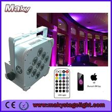 party city 9*15W RGBWA 5in1 wireless dmx battery powered led par