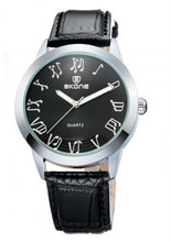 SKONE 9148 Black Dial Black Leather Band Brands Accept Paypal Watch
