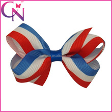 2015 Professional Manurfacturing Hair Accessoriess America Flag Hair Bow For Girls With Clip CNHBW-13081912