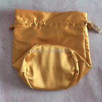 Satin Drawstring Pouch With Round Bottom