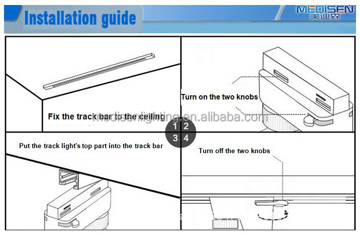 cri80 2 wire 3 wire 4 wire 50w global track lighting system with 3 phase buy led track light led track lighting led track rail lights product on