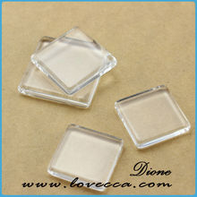 High Clarity 25mm (1 inch) Square crystal Glass Cabochons for Antique/Vintage Blank Photo Pendant Trays and Bezels