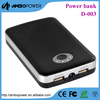 manufacturer power bank with private label 10400mah