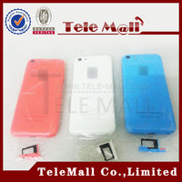 Amazing Price 5C Battery Cover For iphone 5c 5C Rear Back Housing Cover Case with Retail Package Logo and Side Button