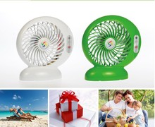 Rechargeable battery operated portable mini air cooling fan 2015 newest design