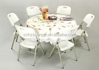 4ft dining plastic fold in half round table