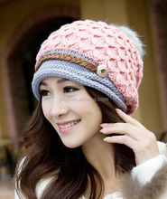 ladies fashion knitted winter hats beanie caps