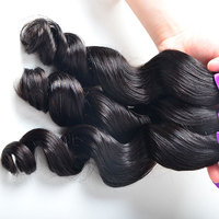 Beauty And Top Quality Wholesale Loose Wave Virgin Indian Hair 100% Human Hair Extention