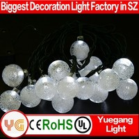interior decoration solar party light ball string light christmas decorations led globe light
