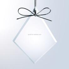 Engraved Christmas Tree Glass Ornament for Holiday Decoration SJ-GJ217