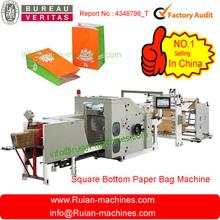 brown bolsa de papel que hace la máquina