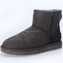 JLX2015 new design, winter Australian sheepskin wool-one simple ankle gray fancy warm snow boots boots factory provide
