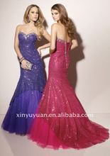 2012 Lastest Gorgeous Morilee's Designer Mermaid Sweetheart Puff Short Train Lace Prom Dress Party Dress MLP-003