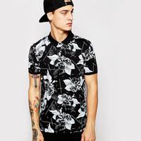 Custom Men's Printed Polo Shirt Wholesale China Factory Polo Shirt