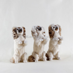 Factory handmade cheap gift for baby fur toy pet dog