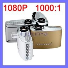 Compatible Max 1920x1080 HD 1080P 16W LED Mini Portable 8S Projector