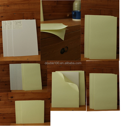 PVC material double side self adhesive photo album sheet