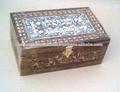 Talladas a mano caja de madera, antqiue talla de madera caja, talla de madera decorativos de la caja,