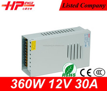 2 years warranty CE RoHS approved constant voltage single output 12v 30a 360w dc dc converter 12v to 24v