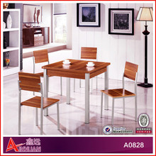 A0828 dining table set/philippine dining table set/ hideaway dining table and chair set