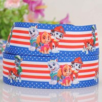 "Wholesale 7/8"" 22 mm celebrate it cartoon printed grosgrain paw patrol ribbon"