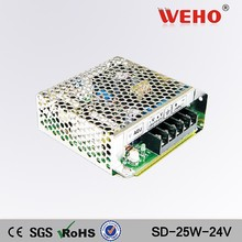 WEHO 25W wide input range 12vdc to 24vdc dc to dc converter