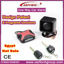 Design patent high quality car alarm car ignition security system with 8 programe function