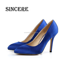 Mass Production Colorful Silk Upper Women Daily Life Dress Pump Shoes