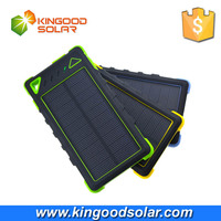 Customized portable 8000mah waterproof solar charger with flameproof material