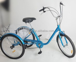 20 inch tricycle adult tricycle three wheel bike basket tricycle