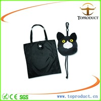 Fashion 190T polyester foldable shopping bag