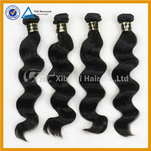 XBL natural color black russian 7a unprocessed double weft hair