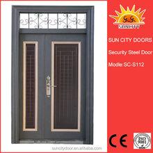 Yongkang più basso in ferro battuto porte di ingresso esterno con vetro sc-s112