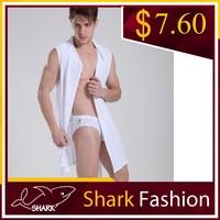 Shark Fashion sexy male pajama set evening gown wholesale bathrobe latest gown designs