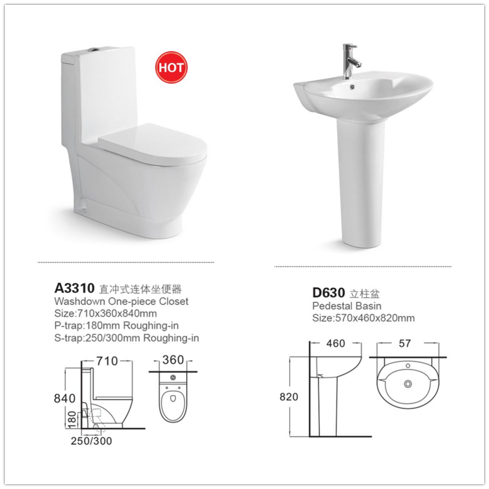 A3310& D622 Sanitary Ware Manufacturer / Bathroom Set Toilet And ...