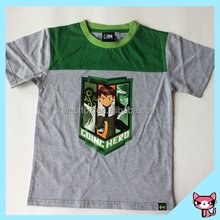 Fashion Top kids short sleeve wholesale boy t shirt