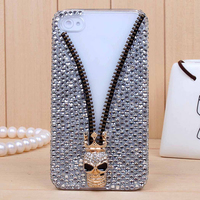 Skull bling rhinestone cell phone case for iPhone 6 and for iPhone 6 Plus