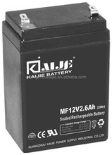 MF12V2.6Ah 12V2.6Ah Lead acid VRLA sealed Maintennace free factory activated battery UPS battery lawn and garden battery