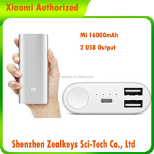Slim Portable Mobile Phone 16000mAh Anti Fake Mark Provided Authorized Xiaomi Power Bank