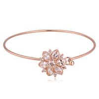 AAA zircon flower bangle smart bracelet 2015 of 18k gold bracelet bagle for Carton fair