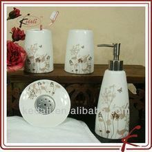 Hot Modern Decorative Porcelain Ceramic Bath Products Bath Set