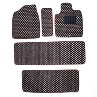current auto car two rows car mats five pieces check