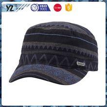 Factory supply custom design fashion mens military cap wholesale