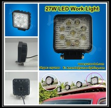 led working light offroad boat tractor lamp 4 x 4 ATV SUV Flood/Spot 27w led work light