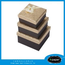 a set of 3 jewel color paper box cookie candy color box with customered design